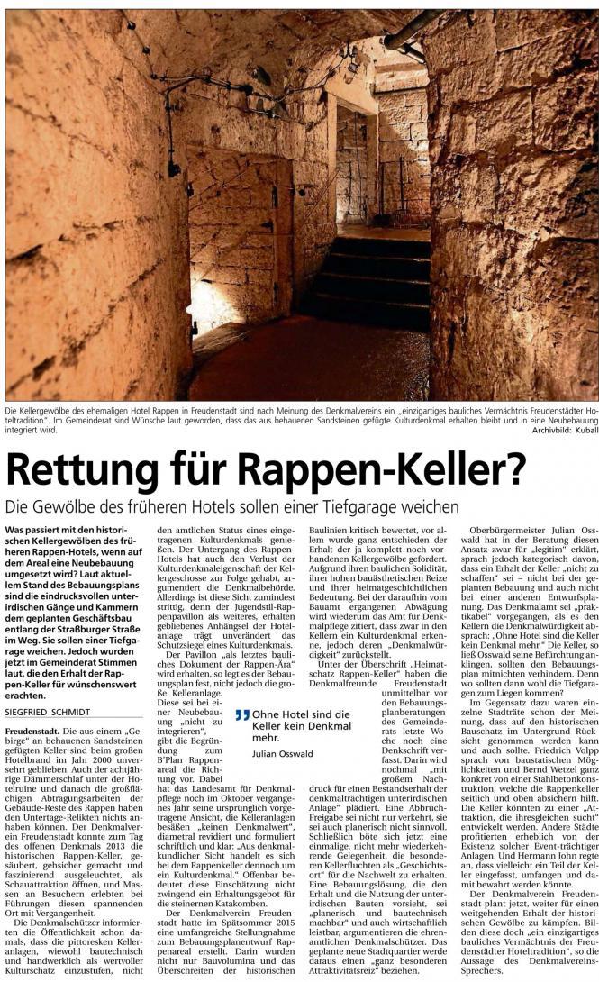 Rettung für Rappen-Keller?