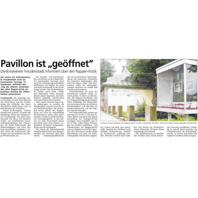 Der Pavillon ist geöffnet