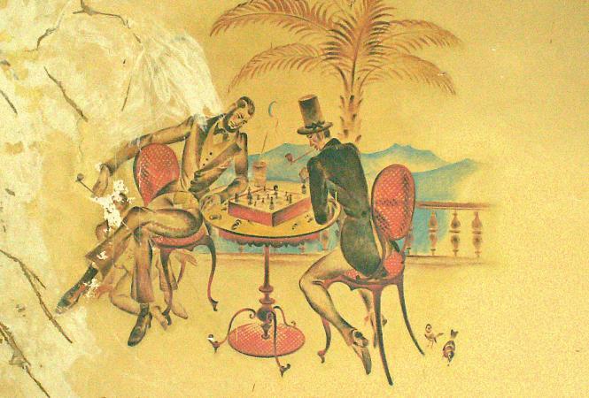 Waldlsut-Festsaal- Wandmalerei